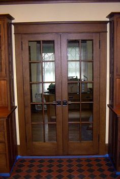 Interior Double French Doors = I think these would be great in my library!