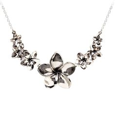 Plumeria Necklace | Seven Plumeria Flowers -- Romantic Jewelry Online Store