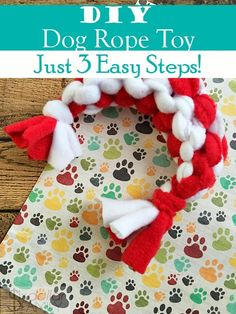 DIY Dog Rope Toy - Have a puppy that needs a new chew toy? Make this easy DIY Dog Toy! Your pooch will have a blast chewing on this homemade and upcycled awesomeness!
