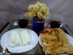 Geymar and Kahi served with Iraqi Tea - traditional Iraqi breakfast.