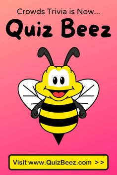 Crowds Trivia is now... QUIZ BEEZ!!! 😎🤓🤩 New name, more features to our platform. Our goal is that you will have fun, improve your general knowledge and sharpen your mind! 🏆🏆🏆 #trivia #quiz #quizbeez #funfact #funfacts Funny Quiz Questions, Trivia Questions And Answers, Quizzes Games, Trivia Games, Bff, Brain Based Learning, How To Become Smarter, Interesting Topics, Mind Games