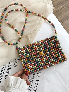 Beaded Purses, Beaded Bags, Beaded Jewelry, Beaded Necklace, Beaded Bracelets, Diy Purse, Clutch Purse, Accesorios Casual, Art Bag