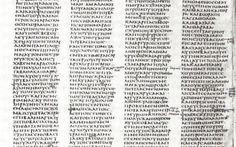 Alcuni appunti sul Codex Sinaiticus Uno studente greco, alle prese con le ricerche per il suo dottorato, ha scoperto in Egitto un frammento disperso della Bibbia più antica finora conosciuta. Il frammento del Codex Sinaiticus, il manos #bibbia #biblioteca #codexsinaiticus