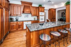"""Take a Peek Inside one of the Burg's Restored """"Old Florida"""" Waterfront Homes!  #Waterfront #Luxuryhome #Florida #Floridahome #LuxuryKitchen #Granite"""