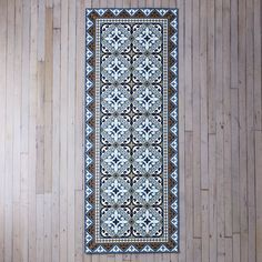 Mediterranean Vinyl Kitchen Runners on Vinyl Floor Mat, Vinyl Flooring, Floor Mats, Kitchen Runner, Kiss The Cook, Style Tile, Runners, Building A House, Wall Decor