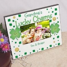 Personalized Lucky Charms Irish Picture Frame