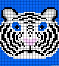 Tiger perler bead pattern