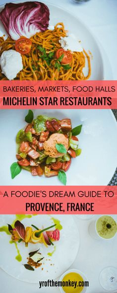 This is a provence restaurant guide to finding the best provencal dishes in Provence, France. Bakeries, farmers markets and food halls also included, plus vegetarian options added. Pin this to your France or Europe or Foodie board for future! #dininginfrance #provence #foodieguide #frenchrestaurants #michelinrestaurants