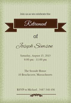retirement party invitations template 2xizvtxM | Retirement or ...
