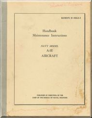 Douglas A-1E Aircraft Maintenance   Manual NAVWEPS 01-40ALE-2 ,  1954