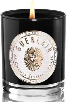 Hiver en Russie Candle, by Guerlain at Neiman Marcus. Soy Candles, Scented Candles, Candle Jars, Candle Holders, Candle Box, Black Candles, Home Scents, Home Fragrances, Perfume
