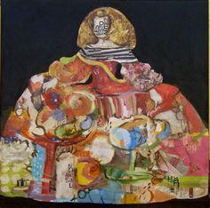 Menina 30, Mixta sobre lienzo, 100x100 cm