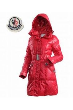 Moncler Women s Long Down Coats Dark Red Vetement Sport, Moncler, Manteau  Chaud, Manteau 18f95ec66b8