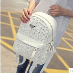 Korean Stylish Student Carved Hollow Backpack All Match School Bags A22