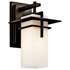 Kichler Caterham H Olde Bronze Medium Base Outdoor Wall Light at Lowe's. The Caterham 1 light outdoor wall light features a contemporary look with its Olde Bronze® finish and satin etched cased opal glass. Wall Sconces, Outdoor Wall Sconce, Outdoor Wall Lighting, Outdoor Walls, Modern Exterior Lighting, Kichler Lighting, Glass Wall Lights, Wall Sconce Lighting, Glass Wall