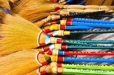 Hand made brooms-Baguio, Philippines