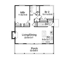 vacation cabin plans | Jacinto Vacation Cabin Home Plan 057D-0034 | House Plans and More