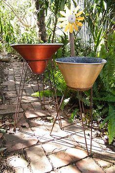 Anodised planters