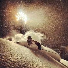 Night skiing in Niseko POW #niseko #skiing #powder #backcountry #loveniseko #japan