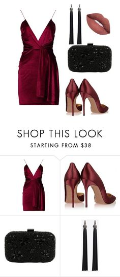 """set for women vamp"" by alyona-chekalkina ❤ liked on Polyvore featuring Boohoo and Santi"