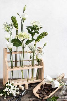 Flower Decoration with Testtubes Woodworking Guide, Custom Woodworking, Woodworking Projects Plans, Science Crafts, Indoor Garden, Botany, Flower Decorations, Houseplants, Planting Flowers