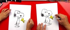 How To Draw Snoopy And Woodstock - Art for Kids Hub