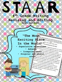 This STAAR Practice Passage includes questions on superlative adjectives and more.  The charming story about a girl who loves her kitchen will hook the kids into this editing passage.