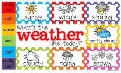 Yay for PreK! : Weather Chart Freebie!