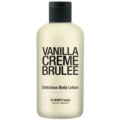 HEMPZ Vanilla Creme Brulee - 8.5 oz. by HEMPZ. $13.61. Long lastin moisture. Delicious flavor. Hempz Vanilla Crème Brulee body moisturizer contains a blend of natural honey and vanilla extracts mixed with the creamy flavor of crème brulee.  So enjoy the tasty treat without the guilt, smother the this delicious lotion on you skin and enjoy the soft and supple skin, and the moisture that last on and on!!   8.5 oz.