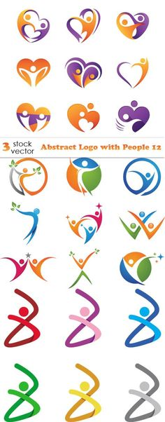 - Abstract Logo with People 12 Vectors - Abstract Logo with People - Abstract Logo with People 12 Logo Inspiration, Vector Amor, Modelo Logo, Connect Logo, Icon Design, Logo Design, Family Logo, Communication Logo, People Logo