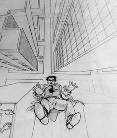 couch drawing birds eye view. bird\u0027s eye view 1-point perspective drawing couch birds