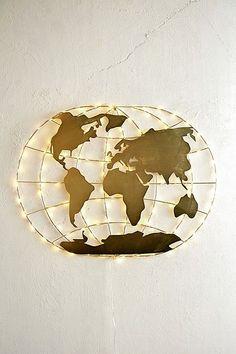 World Map Fairy Light