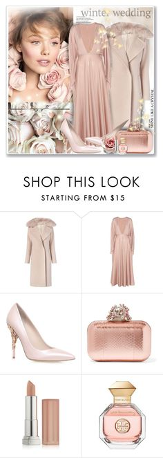 """Winter Wedding"" by sneky ❤ liked on Polyvore featuring Diane Von Furstenberg, Valentino, RALPH & RUSSO, Jimmy Choo, Maybelline, Tory Burch and winterwedding"