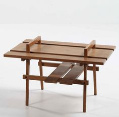 Augusto Romano; Walnut Coffee Table, 1954.