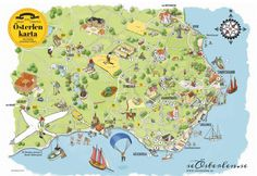 Tourist map of the southeastern corner (Österlen) of the southernmost province (Skåne) Summer Pictures, Summer Pics, Tourist Map, Sweden Travel, Bucket List Destinations, Travel Inspiration, Planets, Road Trip, Barn