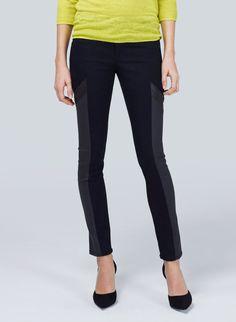 RAG & BONE/JEAN GRANDPRIX-MIDNIGHT - Moto-inspired detailing on a sleek, sophisticated pant