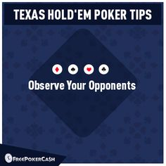 #PokerTips - Body language is a valuable teacher. Even if you're not playing observing your opponents is a good trait.