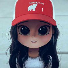 Cartoon Portrait Digital Art Digital Drawing Digital Painting Character Design Drawing Big Eyes Cute Illustration Art Girl Jenna Ortega Saving Flora Hat Cap Stuck in the Middle Cute Girl Drawing, Cartoon Girl Drawing, Cartoon Drawings, Cartoon Art, Cartoon Chef, Kawaii Drawings, Cute Drawings, Cute Cartoon Girl, Cute Girl Wallpaper