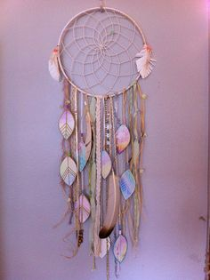 DIY Dream catcher. Leaves.