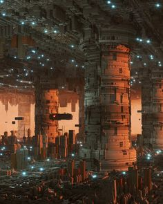 The Artist Inward Brings To Light Sublime Cyberpunk Worlds — Visual Atelier 8 Cyberpunk City, Futuristic City, Sci Fi City, New Retro Wave, Alternate Worlds, Fantasy Places, Cities, Science Fiction Art, Environment Concept Art