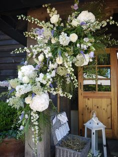 Flowers in the barn entrace