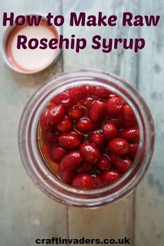 Raw rosehip syrup is a no-cook rosehip syrup recipe that uses sugar to draw the juice from the fruit resulting in a thick, delicious syrup. Gin Recipes, Cooking Recipes, Rosehip Syrup, Garlic Chips, Cordial Recipe, Vegetable Crisps, Crisp Recipe, Red Fruit, Healing Herbs