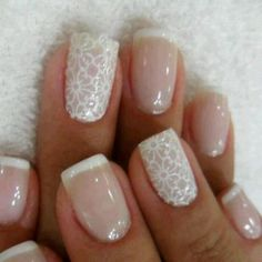 Vintage nails - this WILL be my nail design for whenever I get married.
