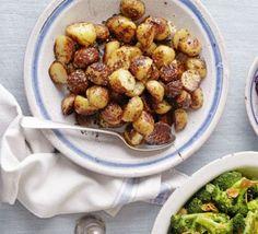 Mustard-glazed roast new potatoes