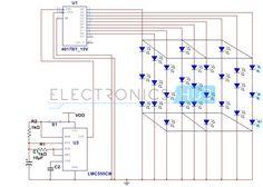 3X3X3 LED Cube Circuit Diagram