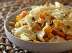 Rich Butternut Squash and Pasta with Sage. I made this for some friends, absolutely delicious!