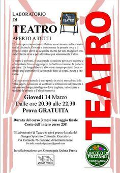 nuovi corsi di teatro a Serramazzoni