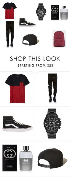 """Untitled #77"" by sg164447 ❤ liked on Polyvore featuring Aéropostale, Dolce&Gabbana, Vans, Michael Kors, Gucci, Brixton, Parkland, men's fashion and menswear"
