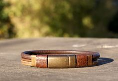 Mens leather bracelet mens leather jewelry magnet clasp
