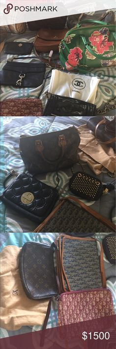 Spring Cleaning Selling a lot of my bags to make room for more. Selling Chanel, Louis Vuitton, Kate Spade, Burberry, Dior, Rebecca Minkoff, and Coach. Message me for more pictures of each. Will be updating soon. Louis Vuitton Bags Crossbody Bags